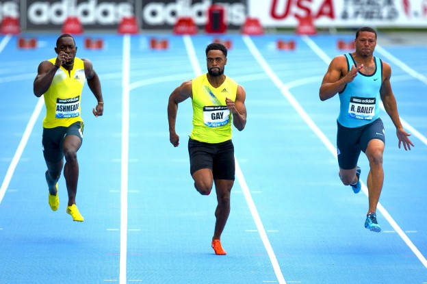 Tyson Gay, Ryan Bailey, Nickel Ashmeade
